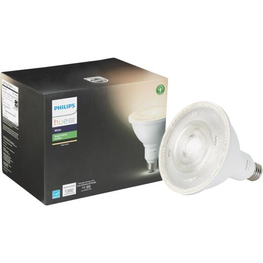 Philips Hue 65W Equivalent Bright White PAR38 Medium LED Floodlight Light Bulb