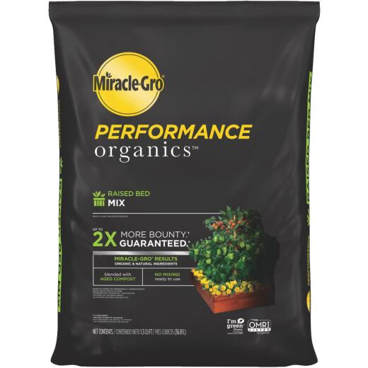 Miracle-Gro Performance Organics 1.3 Cu. Ft. Raised Bed Garden Soil